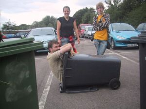 We waited an hour for our empty wheelie bins to be searched...