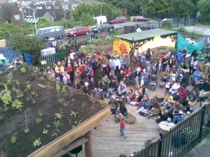 Eastside Roots Celebrates Reclaiming Derelict Railroad Land Last Sunday