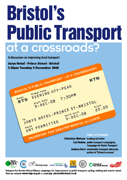 This Public Forum, organised by the Transport for Greater Bristol Alliance, will ramp up the pressure on local government to deal with Bristol's transport mess in a way that prioritises health, access, and quality of life