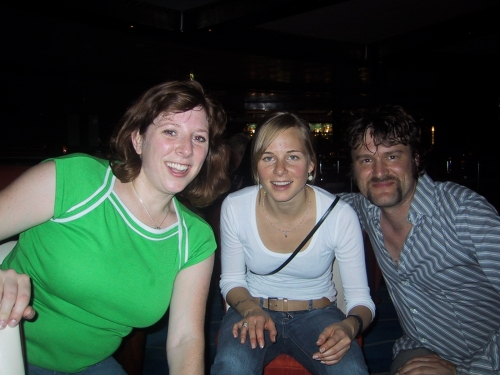 """Out for the night in the """"Spinnaker Lounge"""" with Leah and Sophie"""