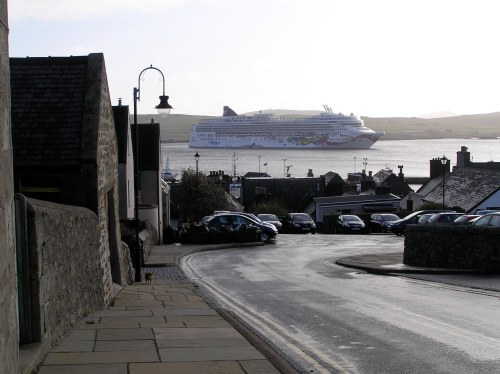 The Port of Lerwick wasn't big enough for our behemoth (photo: Leah Arnold)