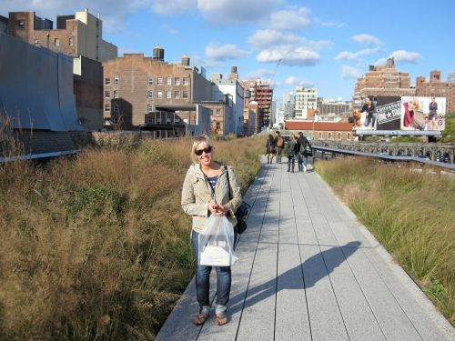 Getting above it all on the High Line...