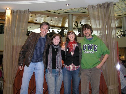 Leah and I with Klaus and Eve, rare 'kindred spirits' on the Cruise